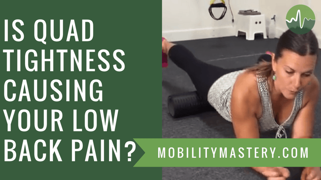 Quad and Hip Flexor Release - This ONE Technique Relieves Piriformis, Glute and Tailbone Pain, Pulled Hamstrings and Groin Pain | If I could recommend only ONE area of the body for every person in the modern world to release or stretch, it would be THIS one. Benefits head to toe and is super easy! Click through to my blog post, watch my video demonstration and get step by step instruction for the best result.