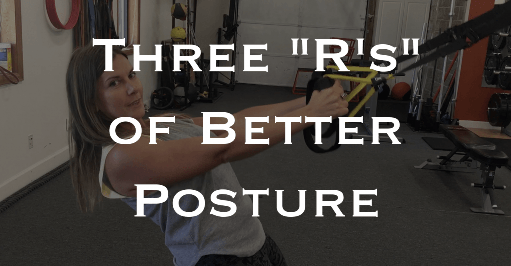 Improve Your Posture to Relieve or Prevent Text Neck, Shoulder and Mid Back Pain | Wondering what you can do to improve posture, relieve pain and feel better on the daily? Click through to blog post and watch my video showing you a few simple exercises that strengthen key areas to prevent pain and keep you healthy!