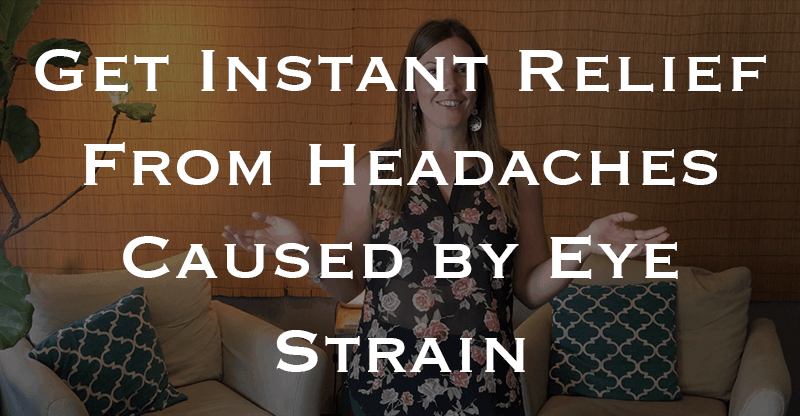 One Weird (and Easy) Technique That Can Banish Headaches FAST! | Try this one weird trick to instantly relieve headaches caused by eye strain. Click through to blog post and watch a few easy to follow video demos for releasing fascia to get rid of those painful episodes!