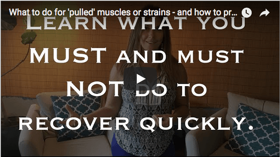 What to Do For 'Pulled' Muscles or Strains - and How to Prevent Them! | Learn how to recover from pulled or strained muscles quickly! There are a few simple rules to follow to make sure you recover well and don't pull those muscles again. Click through to blog post and watch my video and find out how to take care of pulled muscles!